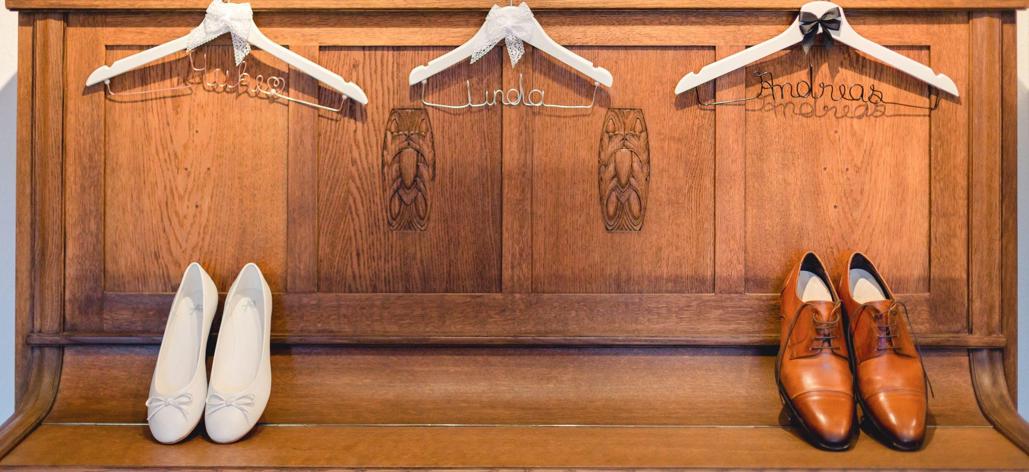 Brautpaar, Schuhe am Hochzeitstag