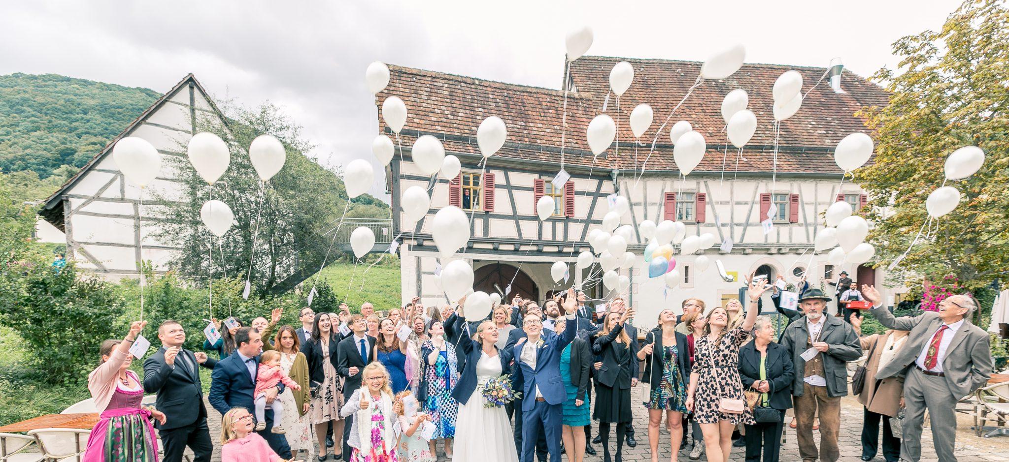 Luftballons an der Hochzeit, Fotograf