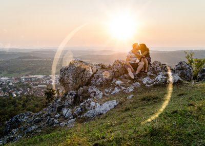 Sonnenuntergang Paarshooting
